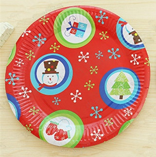Christmas Paper Plates.Cute Christmas Party Paper Plates
