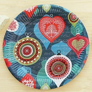 Christmas Paper Plates.Elegant Christmas Party Paper Plates